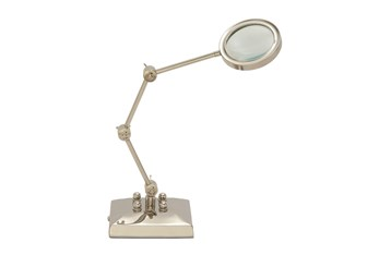 20 Inch Silver Magnifying Glass With Adjustable Stand