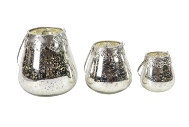 9 Inch Silver Candlestick Holders Set Of 3
