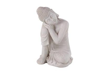 20 Inch Grey Garden Sculpture Buddha Living Spaces