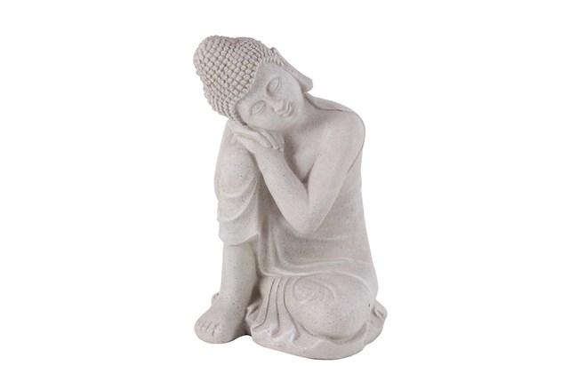 20 Inch Grey Garden Sculpture Buddha - 360