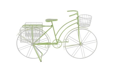 35 Inch Green Metal Bicycle Plant Stand