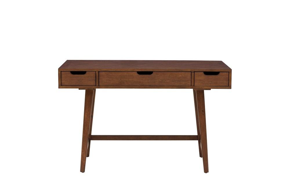 "Walnut Mid Century 48"" Writing Desk"