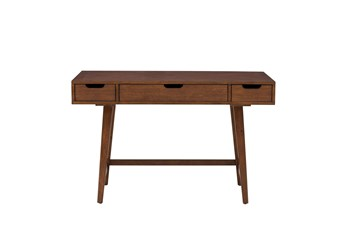 "Walnut Mid Century 48"" Writing Desk"