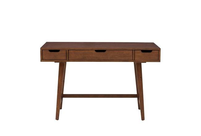 "Walnut Mid Century 48"" Writing Desk - 360"