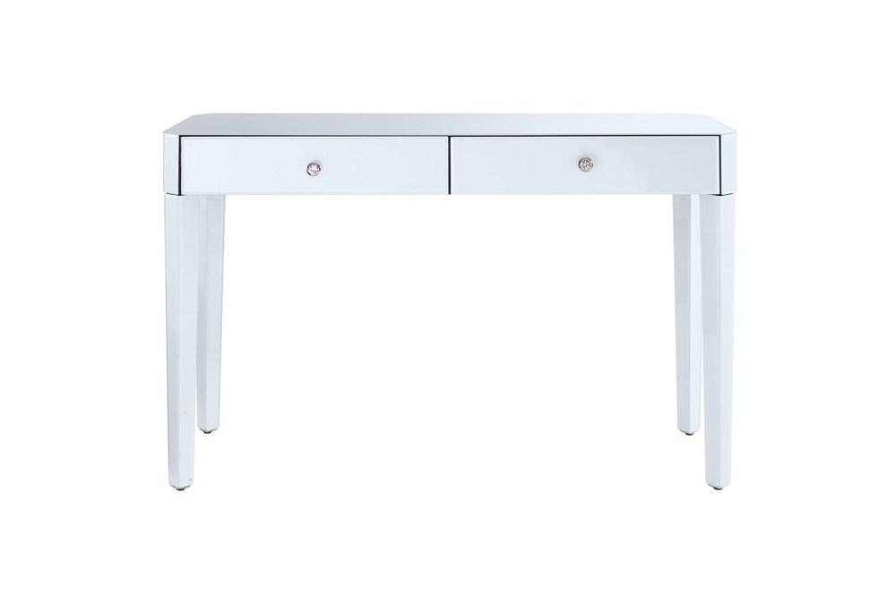 White 2 Drawer Glass Desk