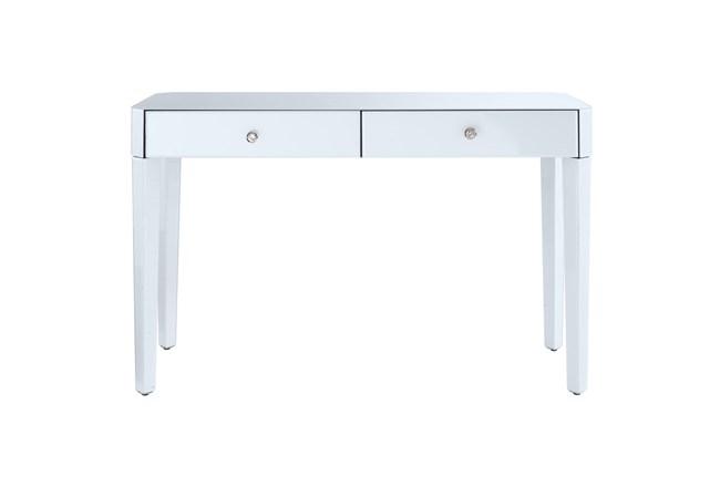 White 2 Drawer Glass Desk - 360