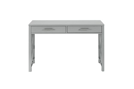 Grey Lattice Waterfall Desk - Main