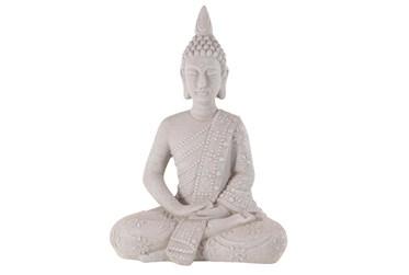 28 Inch Grey Garden Sculpture Buddha