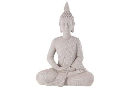 28 Inch Grey Garden Sculpture Buddha - Main