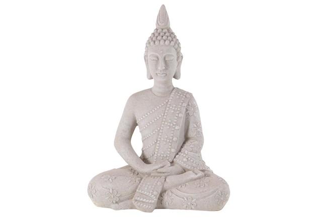 28 Inch Grey Garden Sculpture Buddha - 360