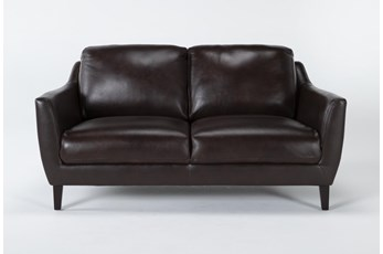 Gigi Leather Loveseat