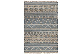 31X96 Runner Rug-Distressed Natural Fiber Blue