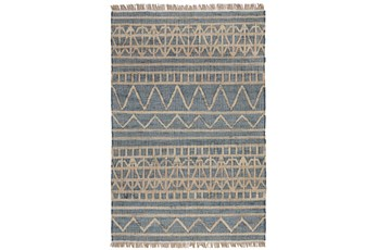 "2'6""x8' Runner Rug-Distressed Natural Fiber Blue"