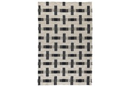 5'x8' Rug-Woven Natural Fiber Ivory/Black