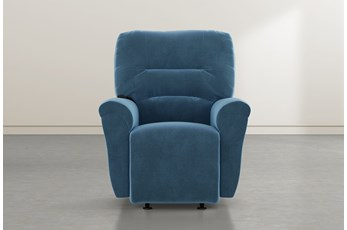 Zara Navy Power Rocker Recliner