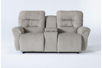 Zara Fabric Power Space Saver Console Reclining Loveseat