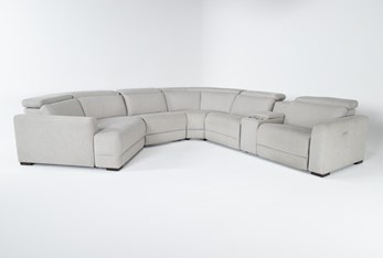 """Chanel Grey 6 Piece 156"""" Sectional With Left Arm Facing Cuddle Chaise"""