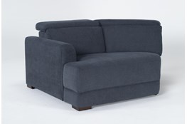 Chanel Denim Left Arm Facing Cuddle Chaise With Ratchet Headrest