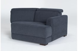 Chanel Denim Right Arm Facing Cuddle Chaise With Ratchet Headrest