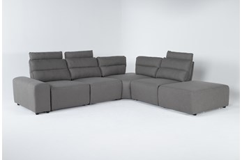 "Sagan 6 Piece 134"" Power Reclining Sectional With 2 Power Recliners & 1 Armrest"