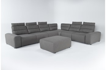 "Sagan 8 Piece 168"" Power Reclining Sectional With 2 Armrests & Ottoman"