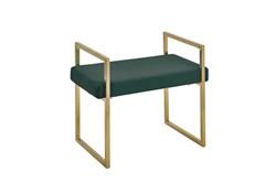 Gold + Green Velvet Bench