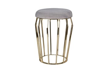 22 Inch Gold + Grey Stool