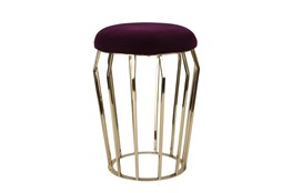 22 Inch Gold + Purple Stool
