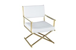 White + Gold Directors Chair