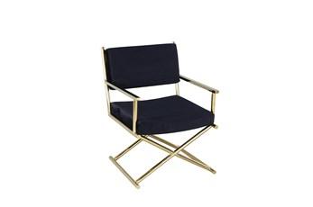 Black + Gold Directors Chair