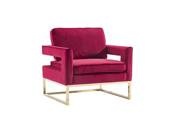 Hot Pink + Gold Accent Chair