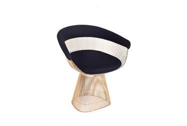 Black + Gold Metal Accent Chair