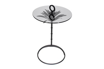 Palm Leaf 22 Inch Accent Table