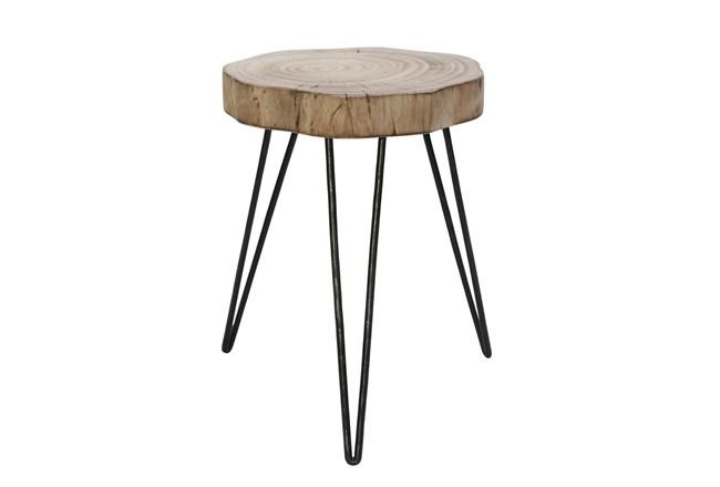 16 Inch Wood Stump Table - 360