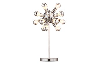 Table Lamp Chrome Starburst