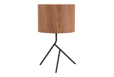 Wood Shade Abstract Table Lamp
