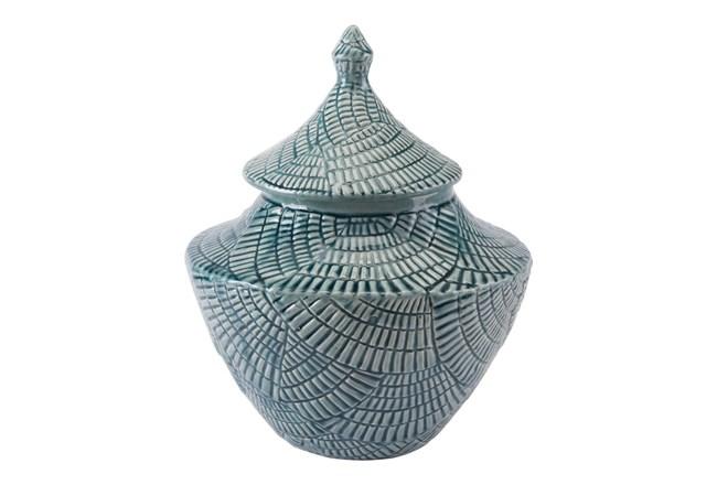 16 Inch Textured Mint Jar - 360
