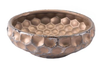 4 Inch Hammered Bronze Bowl