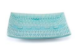 Light Blue Tribal Patterned Plate