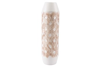 22 Inch White And Brown Bottle