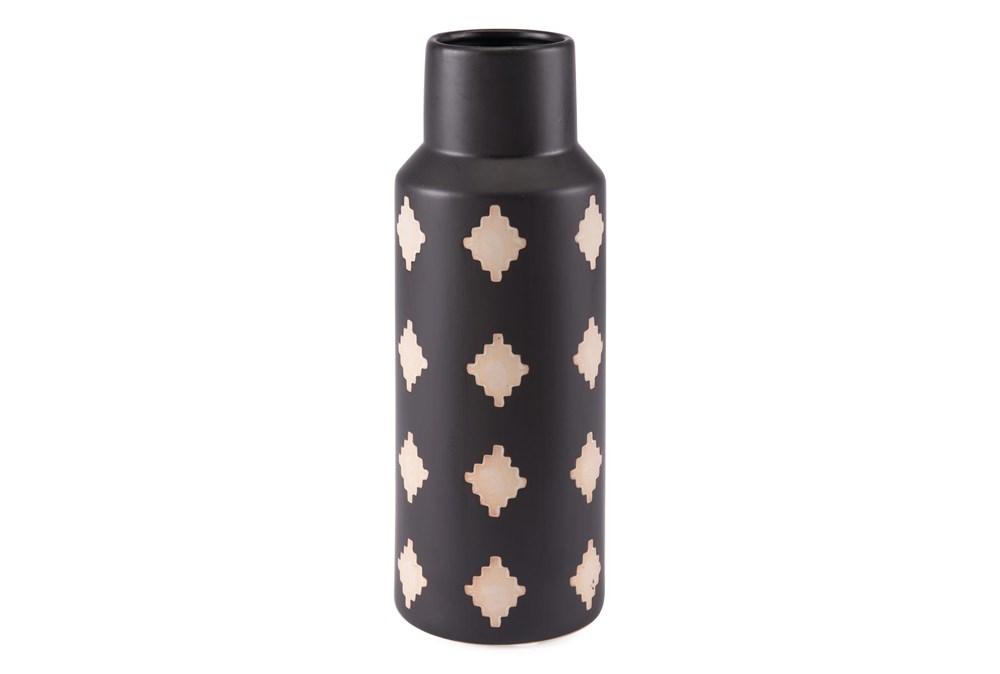 14 Inch Black And Beige Bottle