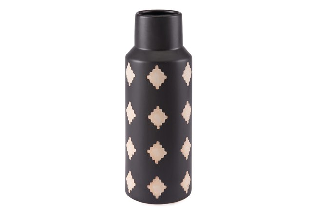 14 Inch Black And Beige Bottle - 360