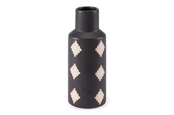 10 Inch Black And Beige Bottle