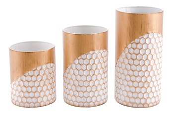 Cold Honeycomb Candle Holder Set Of 3