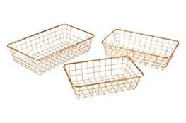 Gold Baskets Set Of 3