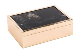 5 Inch Black Stone Box