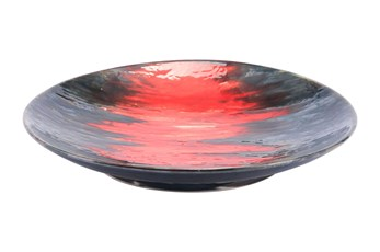 Black And Red Decorative Plate