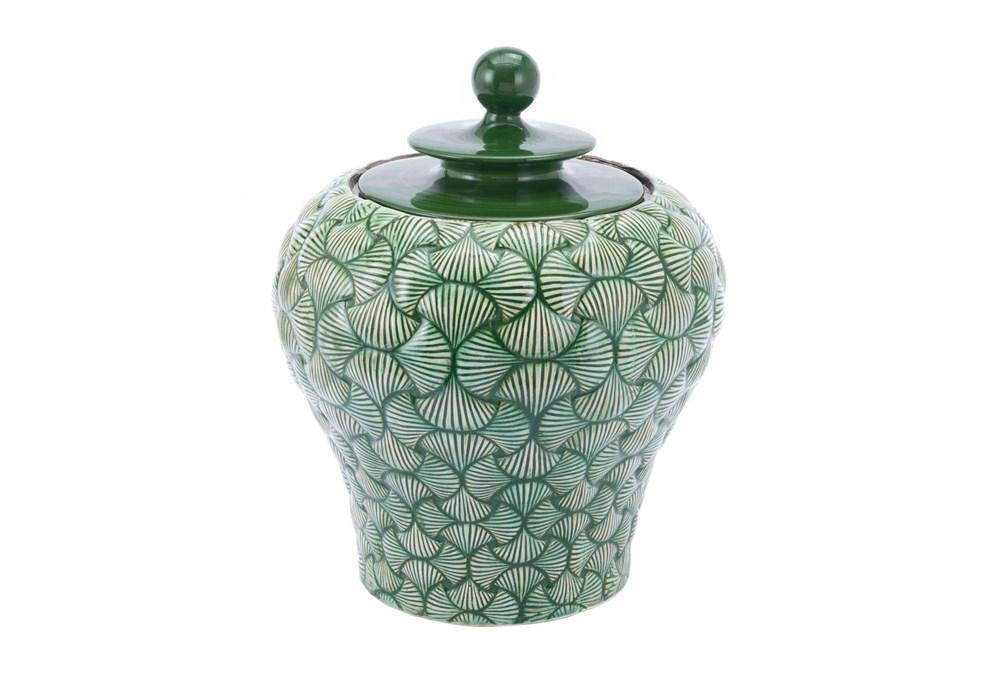 20 Inch Green Shell Textured Jar