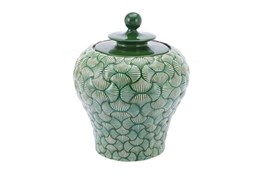 20 Inch Green Shell Textured Jar