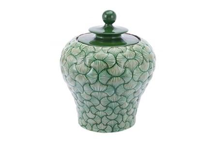 20 Inch Green Shell Textured Jar - Main
